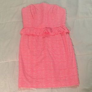 Lilly Pulitzer pink gingham dress